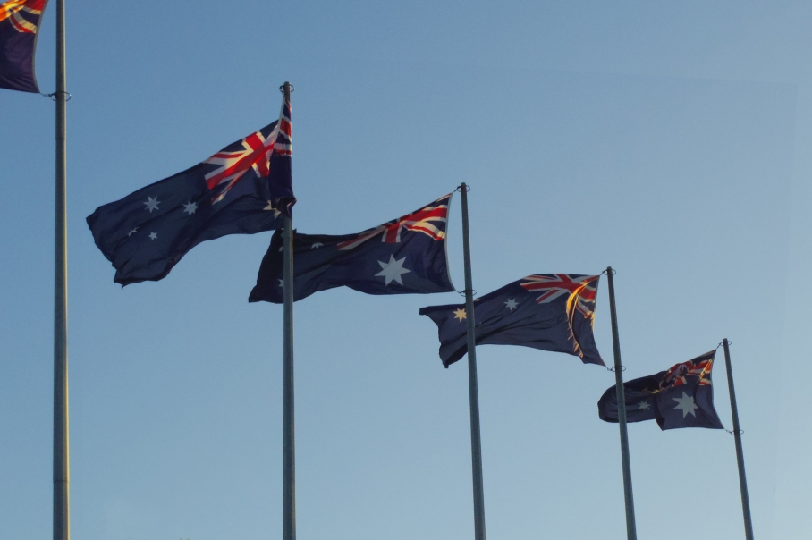 Australian Day Fireworks Flag by un tour a deux