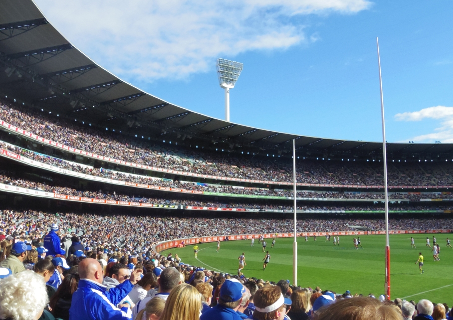 Un tour a deux Melbourne Australie Voyage Travel MGC Stadium Supporter Footy