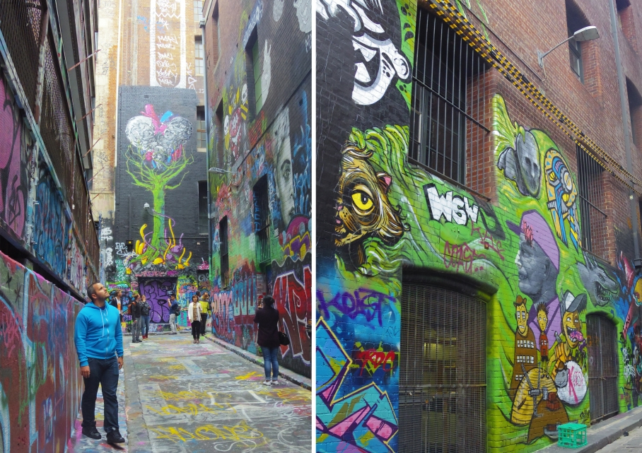 Un tour a deux Melbourne Australie Voyage Travel Street Art Colors