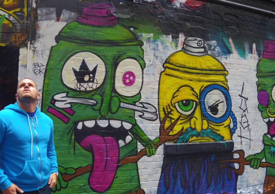 Un tour a deux Melbourne Australie Voyage Travel Street Art Couleurs