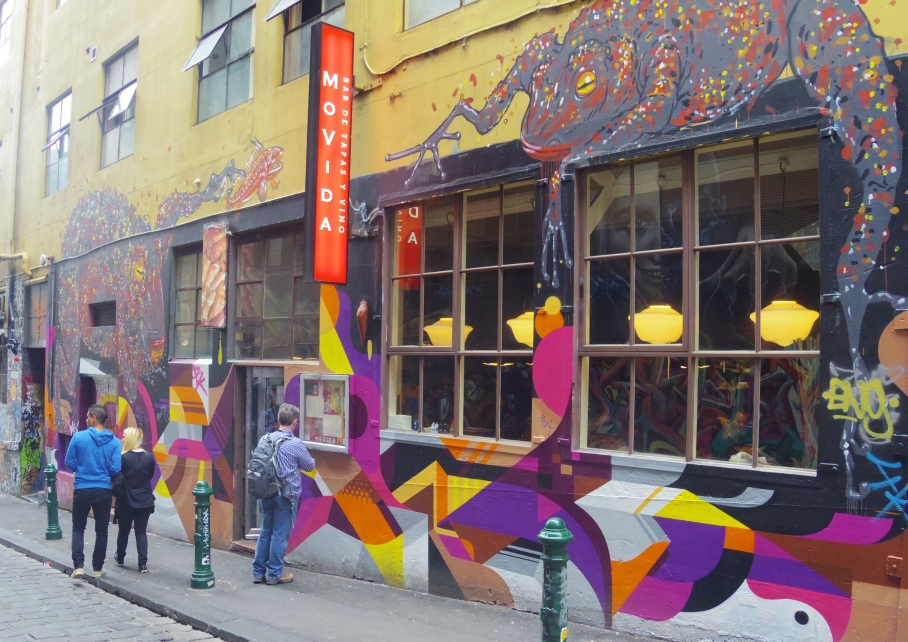 Un tour a deux Melbourne Australie Voyage Travel Street Art Movida Restaurant