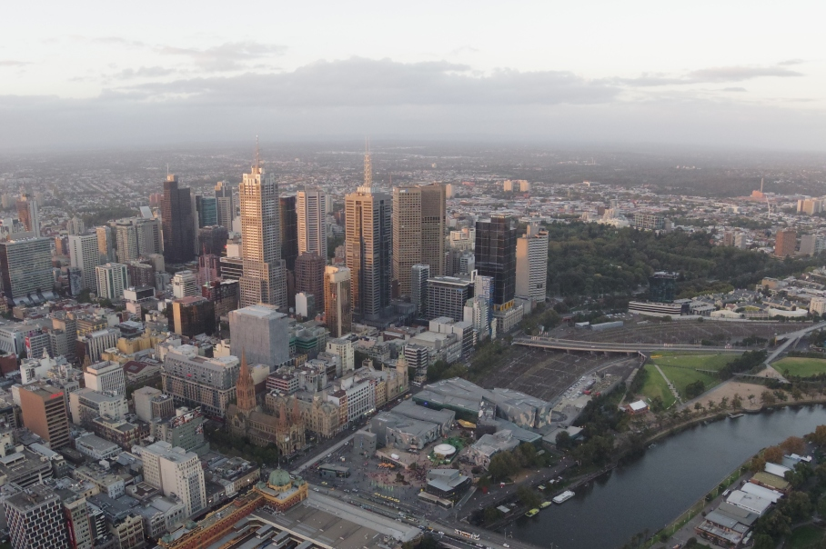 Un tour a deux Melbourne Australie Voyage Travel Sunset Eye Tower View
