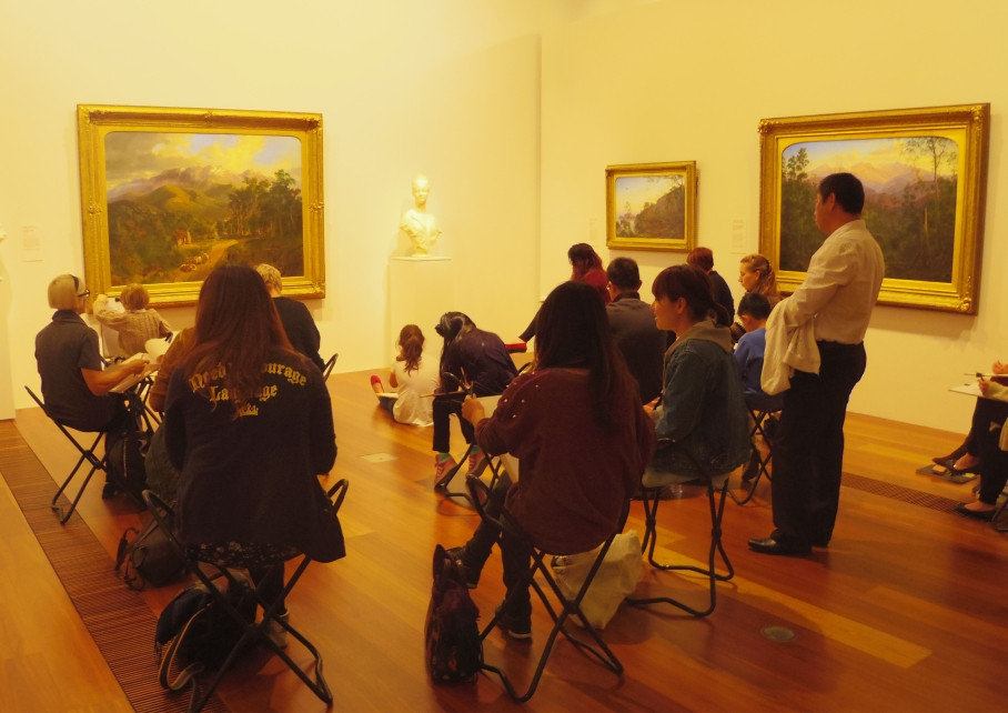 Un tour a deux Melbourne Australie Voyage Travel Art Lesson Painting Museum