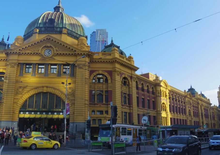 Un tour a deux Melbourne Australie Voyage Travel Flinder Station