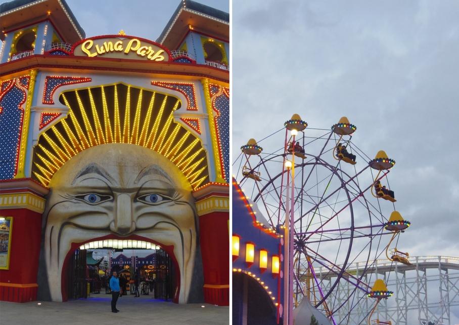 Un tour a deux Melbourne Australie Voyage Travel Luna Park St Kilda