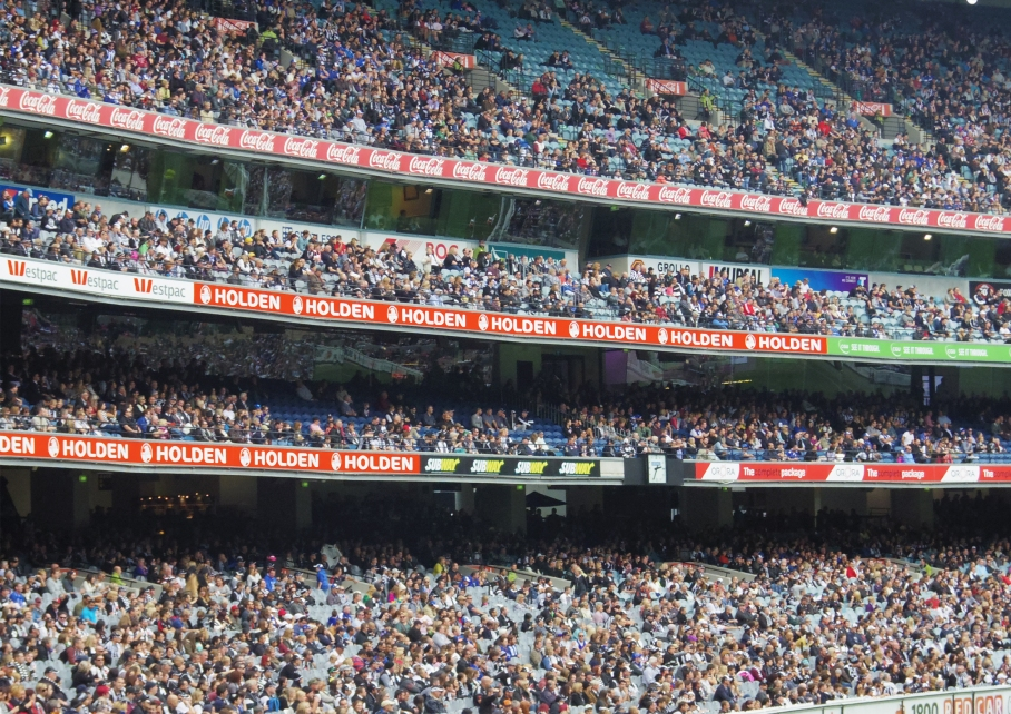 Un tour a deux Melbourne Australie Voyage Travel MGC Stadium Footy Game Supporters