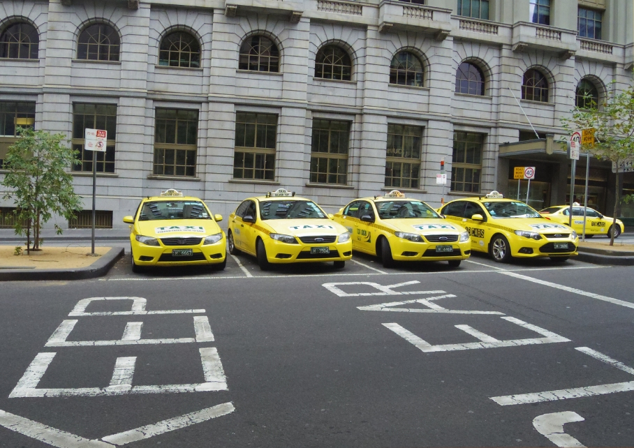 Un tour a deux Melbourne Australie Voyage Travel Sunset Taxi