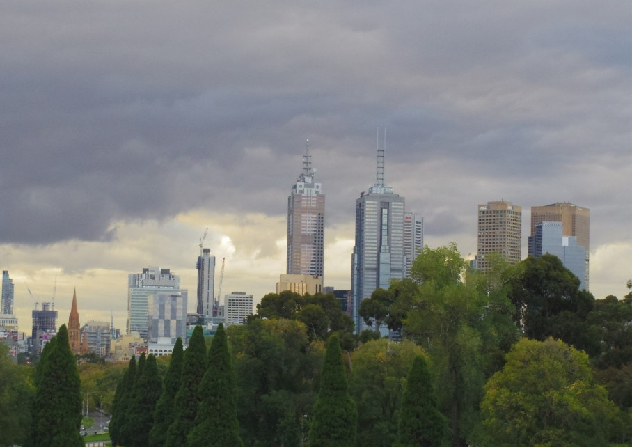 Un tour a deux Melbourne Australie Voyage Travel View City