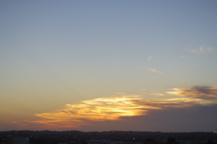 Un tour a deux sunset view from our balcony sky clouds Perth Voyage Travel May