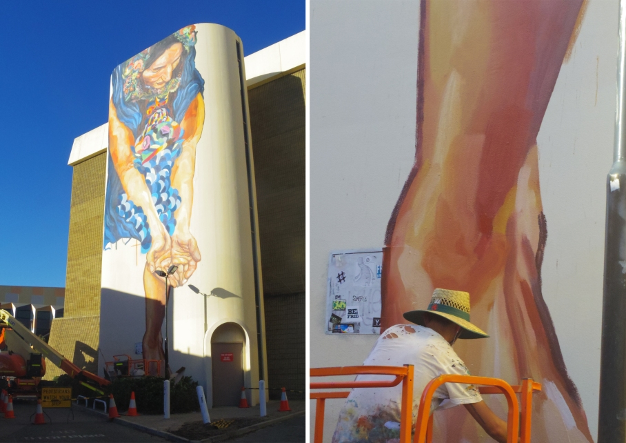 Un tour a deux travel voyage australie Perth Peint Art in the city facade peinture