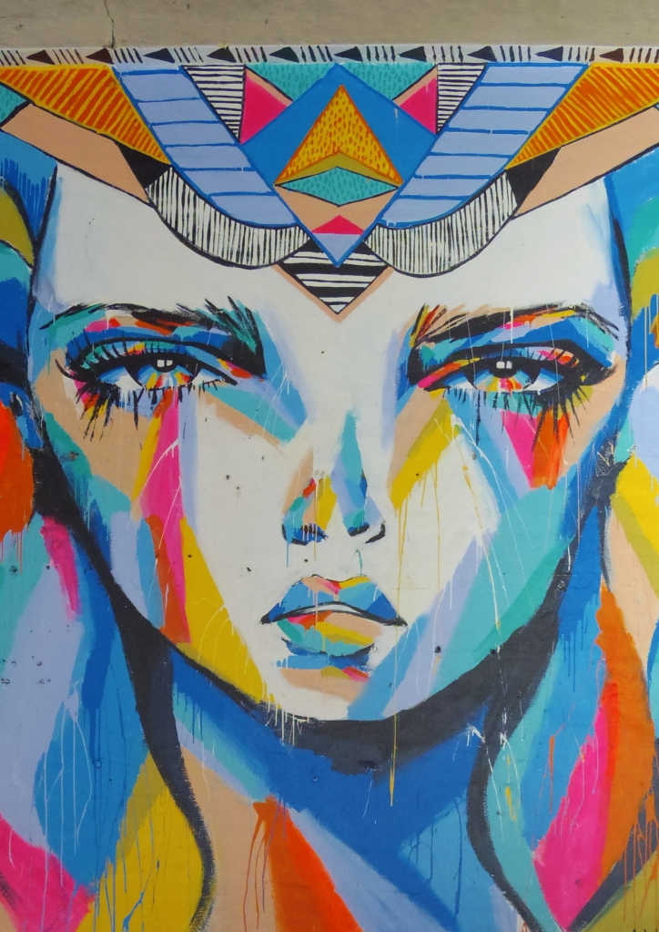 Un tour a deux travel voyage australie Perth Peint Art in the city Wolf Lane Face Lady