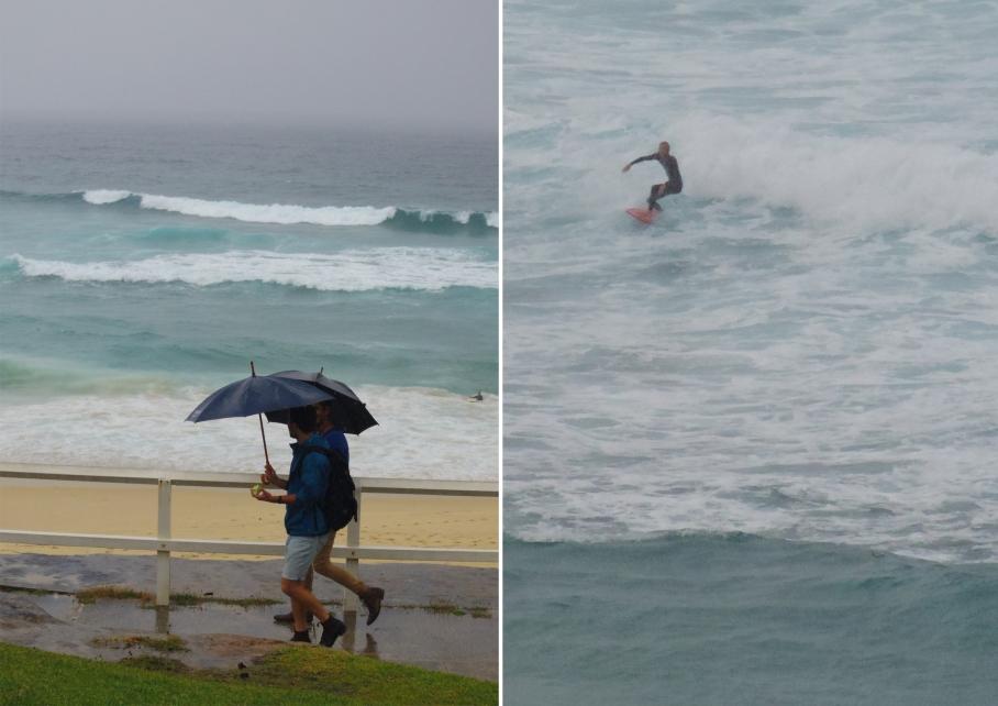 Un tour a deux travel voyage australie Sydney Bondi Beach Surf Rain