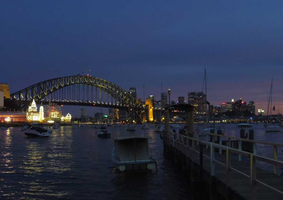 Un tour a deux travel voyage australie Sydney Harbour Bridge View by Night