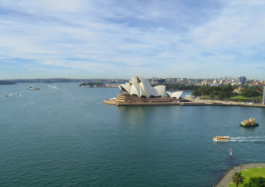 Un tour a deux travel voyage australie Sydney Swimming pool Opera House Bay