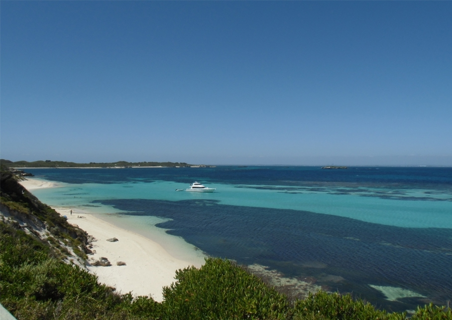 Un tour a deux blog voyage travel perth australia rottnest island rocher plage beach little bay blue sea