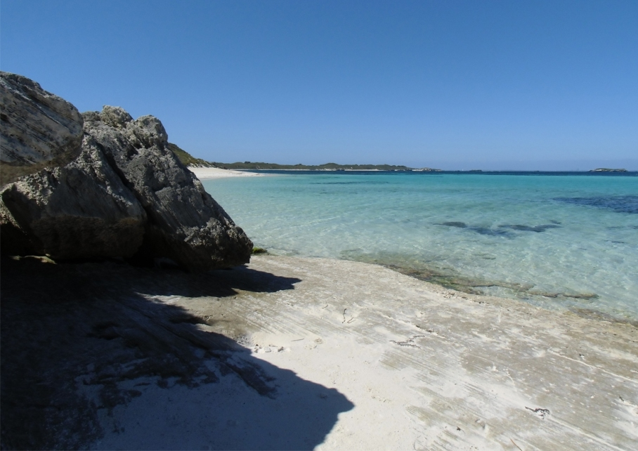 Un tour a deux blog voyage travel perth australia rottnest island rocher plage beach little bay plage mer sable blanc paradis