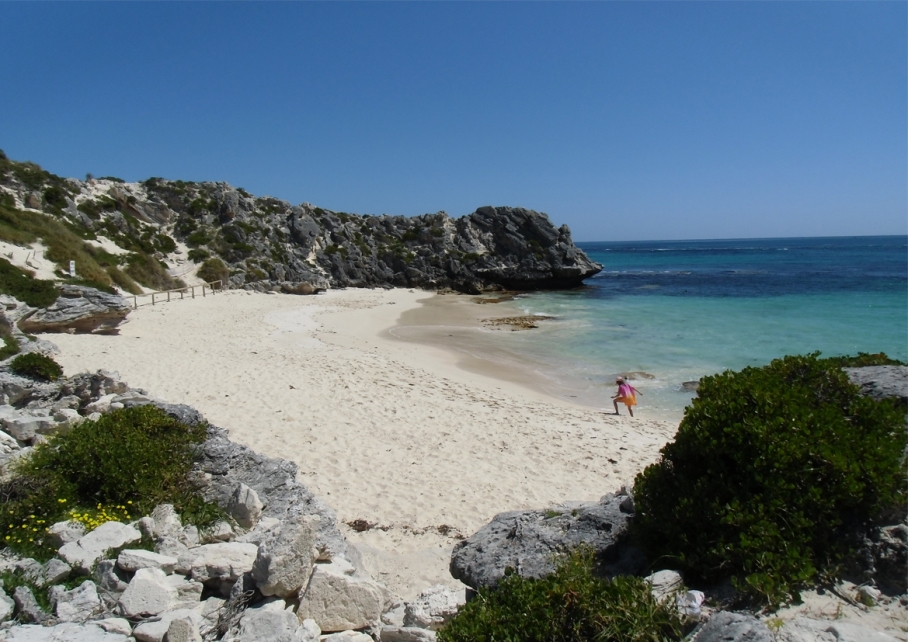 Un tour a deux blog voyage travel perth australia rottnest island rocher plage beach little bay