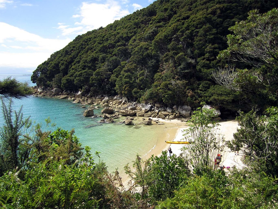 Un tour a deux blog voyage travel nouvelle zelande new zealand abel tasman park kayak go pro tasman sea view track