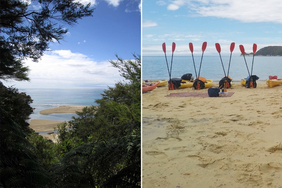 Un tour a deux blog voyage travel nouvelle zelande new zealand abel tasman park kayak go pro tasman sea view