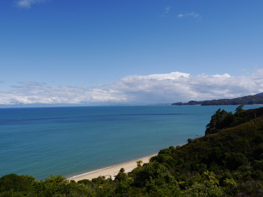 Un tour a deux blog voyage travel nouvelle zelande new zealand abel tasman park kayak go pro tasman sea vue mer