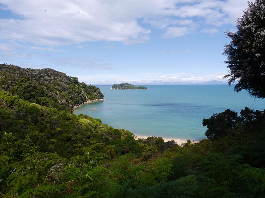Un tour a deux blog voyage travel nouvelle zelande new zealand abel tasman park kayak go pro tasman sea vue sentier mer