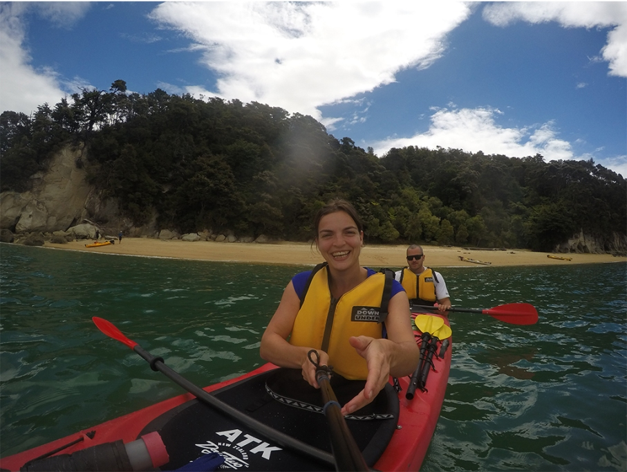 Un tour a deux blog voyage travel nouvelle zelande new zealand abel tasman park kayak go pro tasman sea