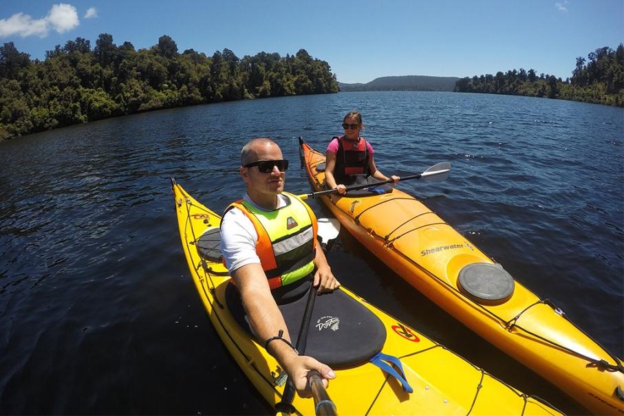Un tour a deux blog voyage travel nouvelle zelande new zealand franz joseph glacier lac mapourika kayak both