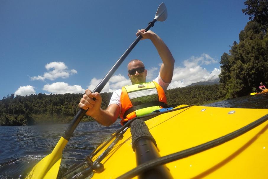 Un tour a deux blog voyage travel nouvelle zelande new zealand franz joseph glacier lac mapourika kayaks