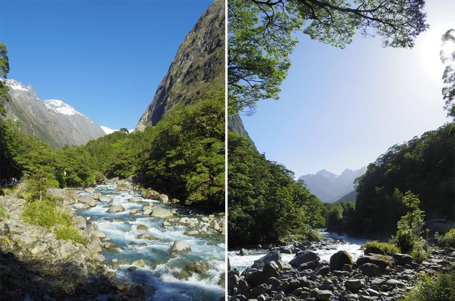 Un tour a deux blog voyage travel nouvelle zelande new zealand milford sound montagnes eau riviere untouradeux.com