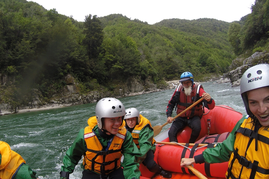Un tour a deux blog voyage travel nouvelle zelande new zealand murhison river rafting team