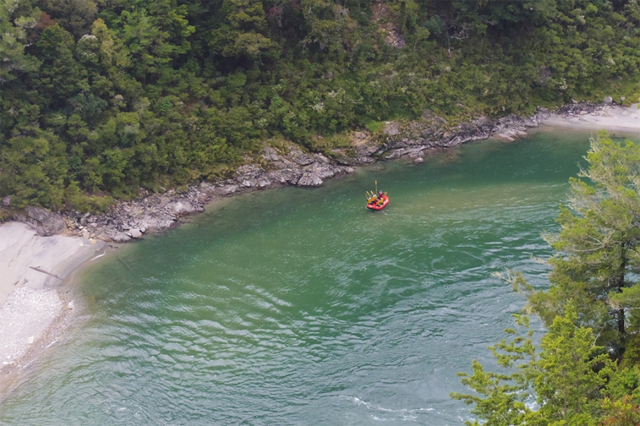 Un tour a deux blog voyage travel nouvelle zelande new zealand murhison river rafting view vue