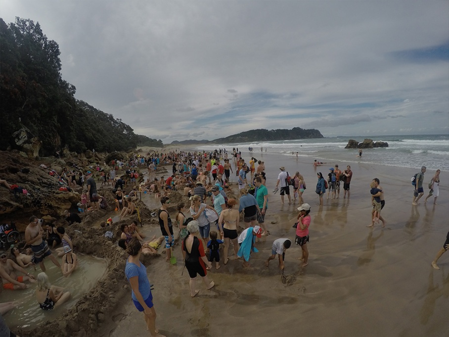 Blog Nouvelle Zelande travel voyage untouradeux tauranga vieuw vue hot water beach