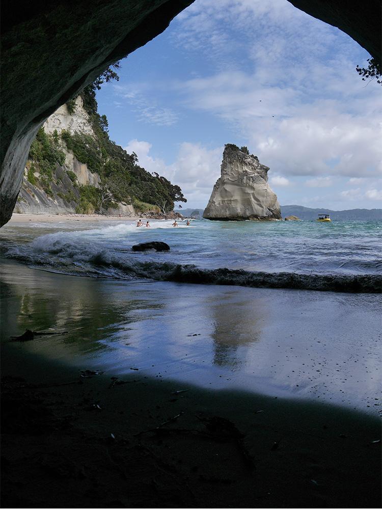 Blog Nouvelle Zelande travel voyage untouradeux tauranga vieuw vue tauranga mauro mouton arche ombre coromandel reflet