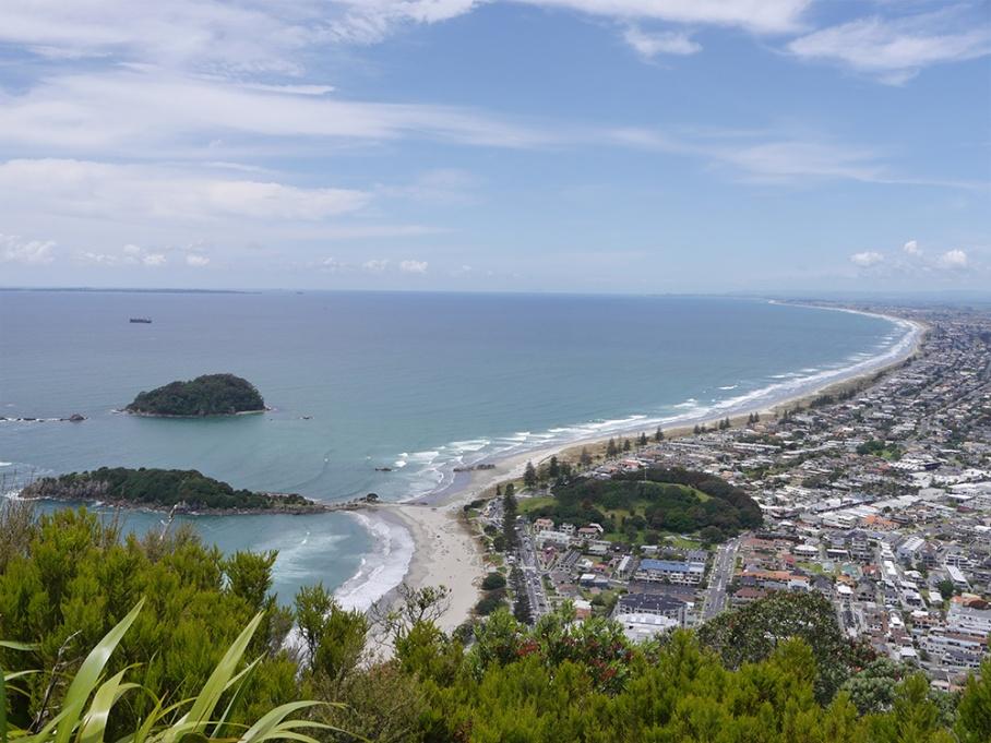 Blog Nouvelle Zelande travel voyage untouradeux tauranga vieuw vue tauranga mauro mouton view