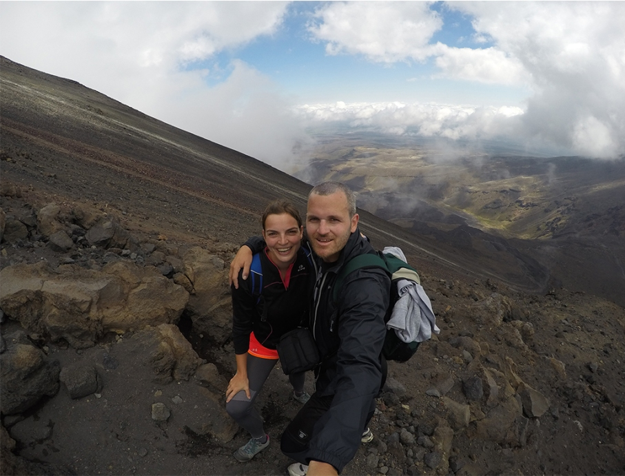Un tour a deux blog travel voyage nouvelle zelande new zealand tongariro alpine crossing sefie tongariro