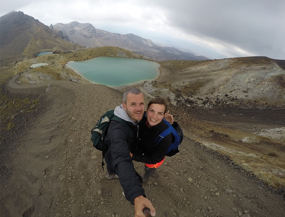 Un tour a deux blog travel voyage nouvelle zelande new zealand tongariro alpine crossing selfie
