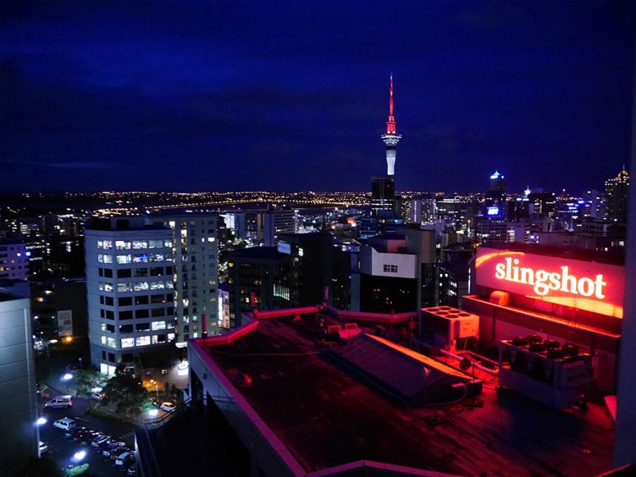 Blog Nouvelle Zelande travel voyage untouradeux auckland vue hotel night view